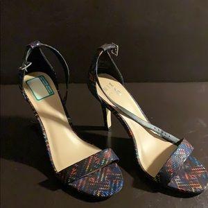 Mix No.6 multicolored sandal heel
